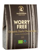 Organic, fairtrade dark chocolate buttons 90g 56 %