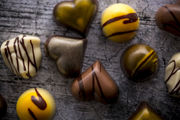 chocolate pieces, confection, truffles