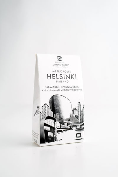 Helsinki Salted liquorice white chocolate buttons 55g