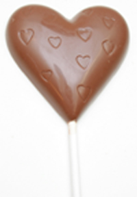 Milk- and dark chocolate lollipop 25g